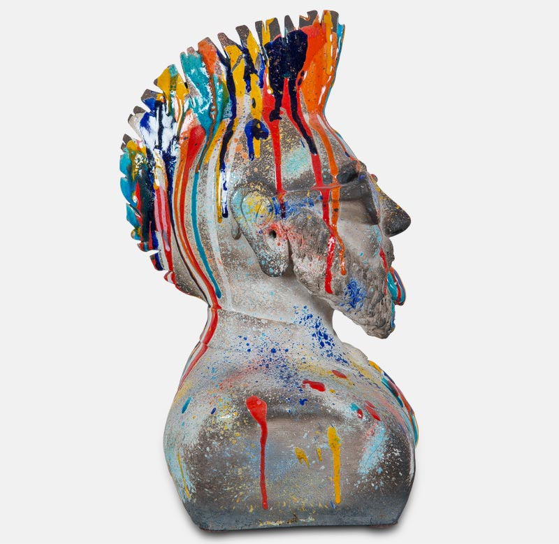 Fonzy profil2 - sculpture matthieu mary