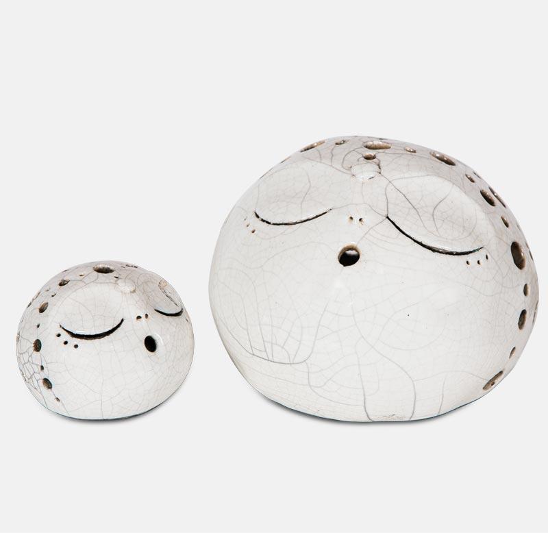 kôgui raku blanc - sculpture matthieu mary