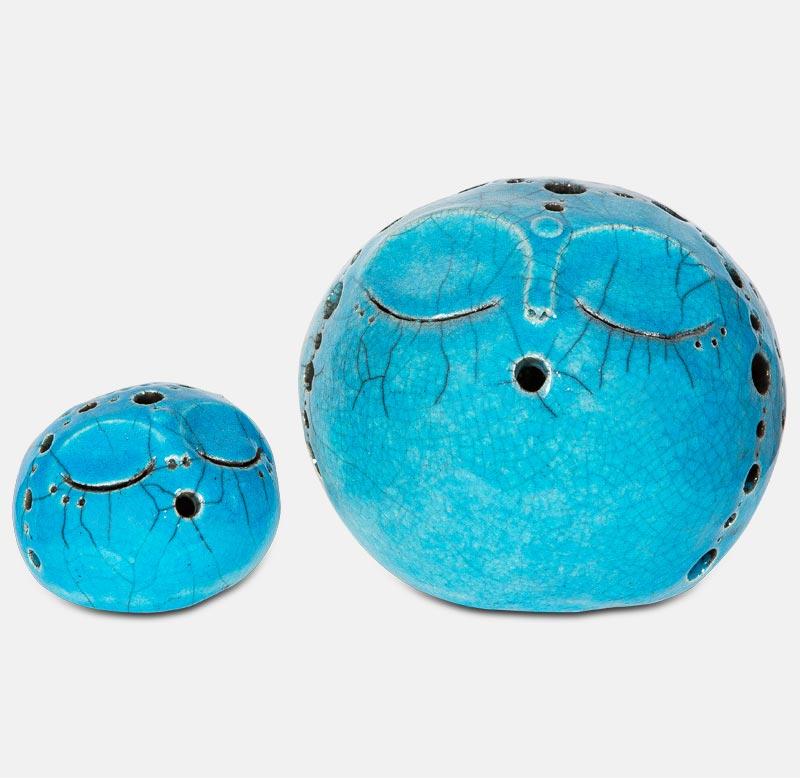 kôgui raku turquoise - sculpture matthieu mary