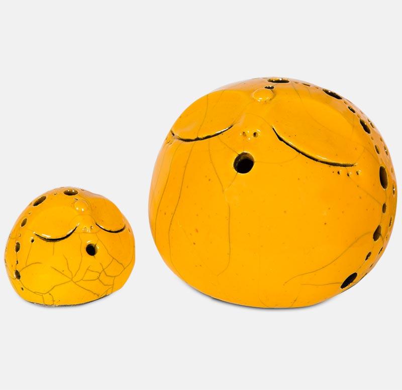 kôgui raku jaune - sculpture matthieu mary