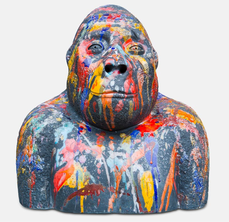Kong face - sculpture matthieu mary