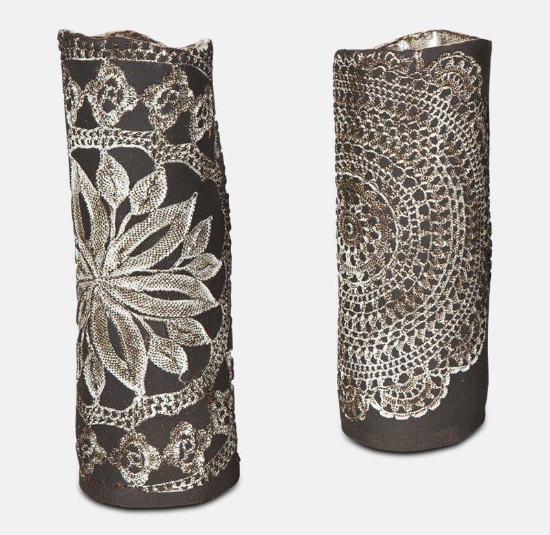 Vase dentelle - poterie matthieu mary