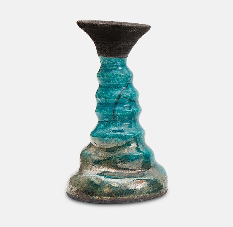 bougeoire raku - poterie matthieu mary