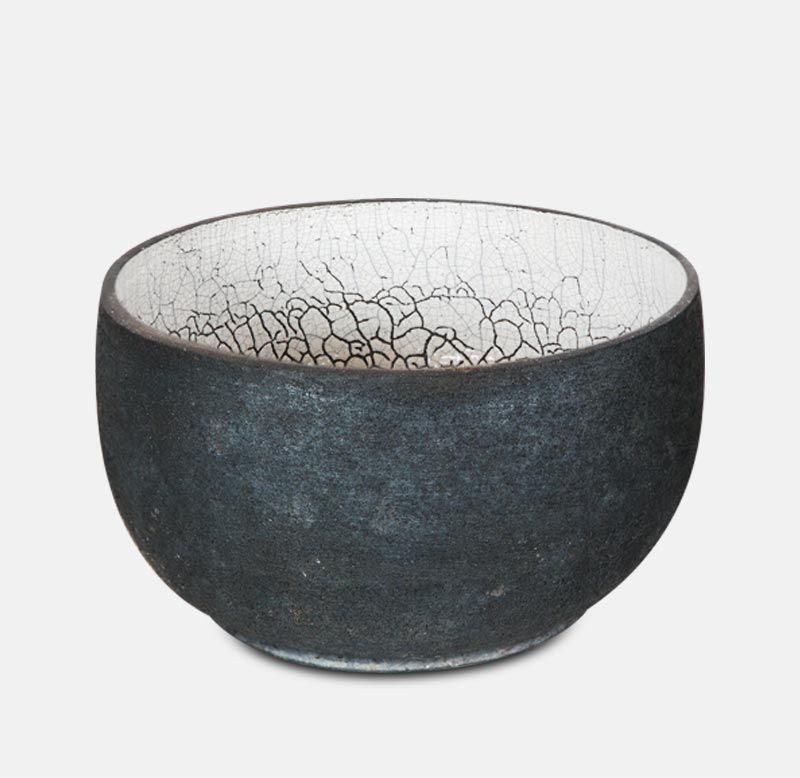 Vasque Raku - poterie matthieu mary