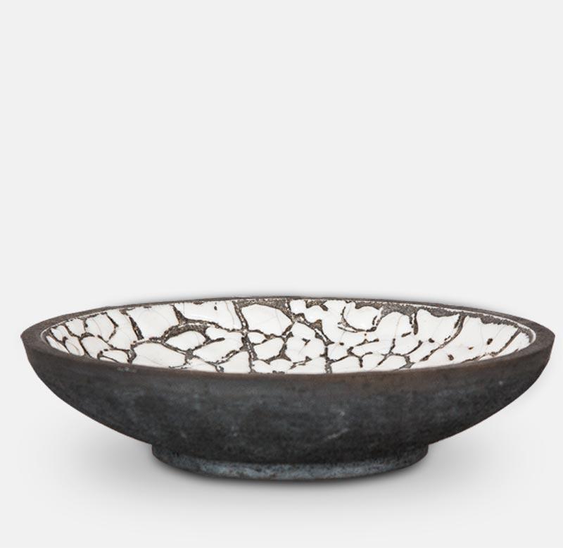 vasque raku - poterie matthieu mary