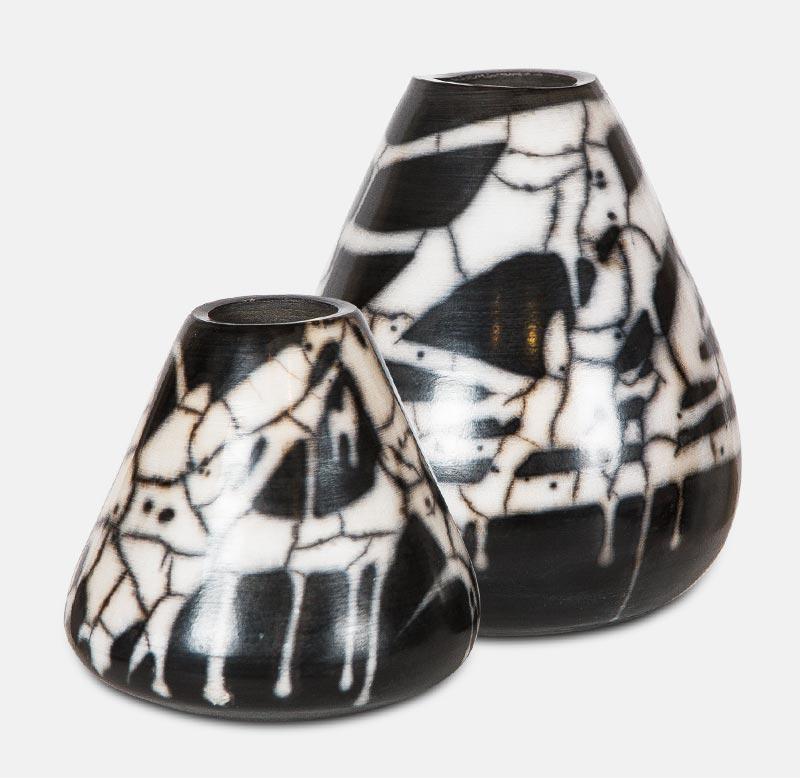 vase raku nu - poterie matthieu mary