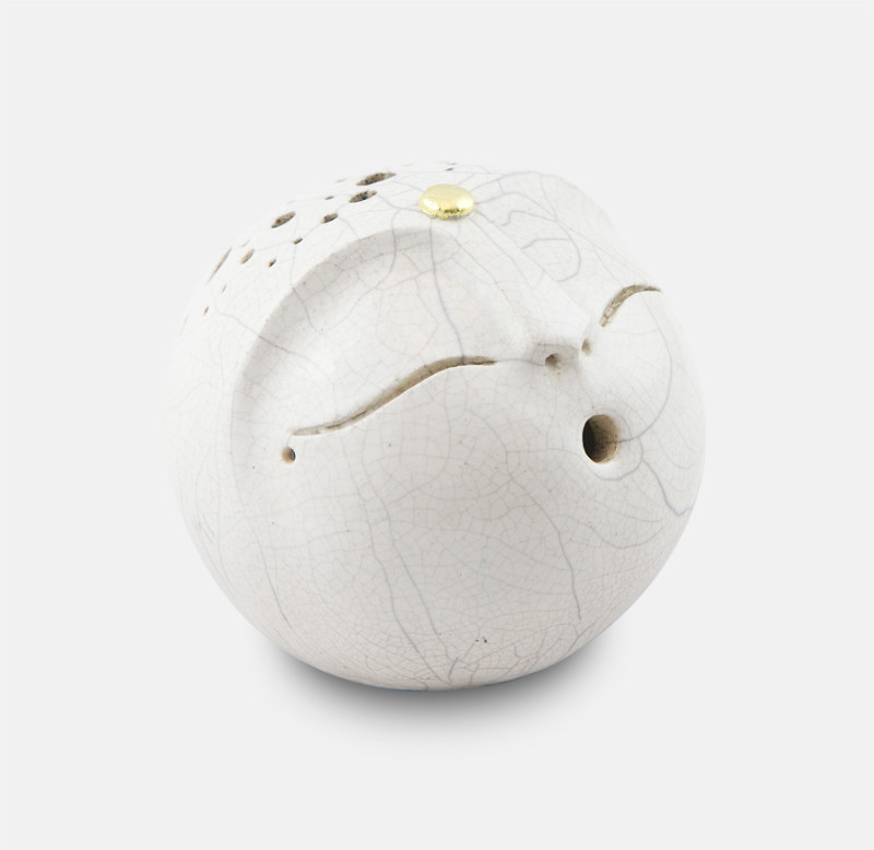 kôgui raku cuivré - sculpture matthieu mary